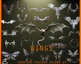 WINGS - 33 CREATURES MESHES 3D