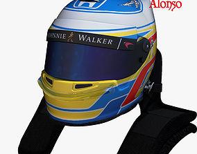 Alonso helmet 2017 3D model