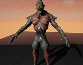 3D asset rigged Hybrid Alien