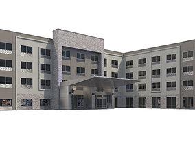 3D model Commercial Building-014 Holiday Inn Hotel