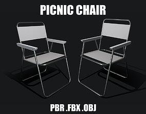 PBR Low Ploy Picnic Chair 3D model