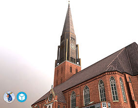 3D model low-poly Hamburg StJacobi Kirche