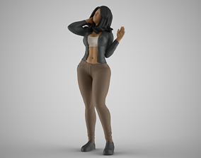 Woman Seeing Something Above 3D print model