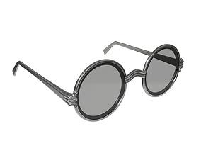 3D model Round glasses