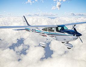3D asset Ultralight Airplane Cessna 182 Skylane