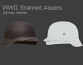 WW2 German Helmet StahlHelm - WW2 Scanned Asset low-poly