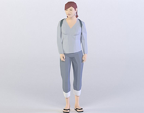 STUDENTS (FEMALE) 3D MODEL realtime