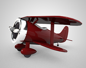 VR / AR ready Tiny Cartoon Biplane model