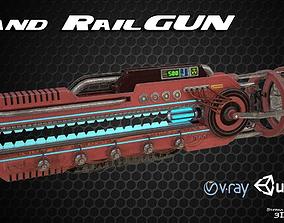 3D model Hand RailGun