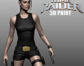 3D print model Lara Croft -Angelina Jolie