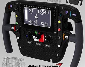 Mp4 30 steering wheel 3D asset