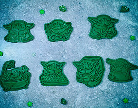 3D printable model Baby Yoda Mandalorian cookie cutter 2