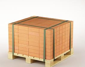 3D model game-ready Bricks on the pallet 01
