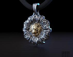 lion pendant with patterns 3D model