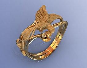 3D print model Best Gold Design Ring Hummingbird for Women