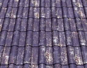 seamless texture of purple rusty roof 3D model