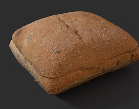 Multigrain Sandwich Bun 3D asset