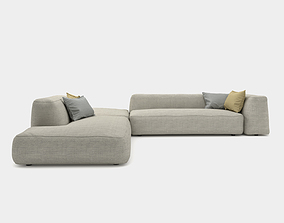3D Cozy couch with round edges