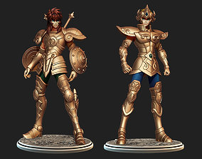 3D model Saint Seiya Pack 1 - Aiolia Leo and Dohko Libra