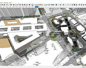 3D model Sketchup shopping center F9