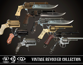 Vintage Revolver Collection 3D model