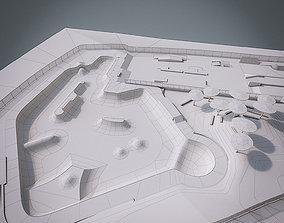 3D asset game-ready Skate park