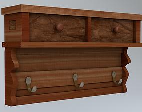 Lowpoly classical shelf 3D model