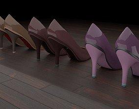 High heel women shoes 01 3D asset