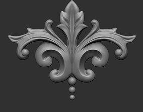 3D printable model Floral ornament 3