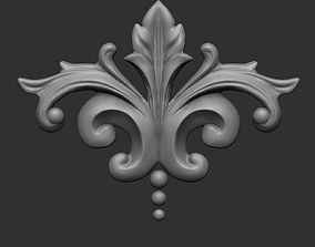 3D printable model Floral ornament 3
