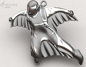 Wingsuit orignal pendant keychain 3D print model