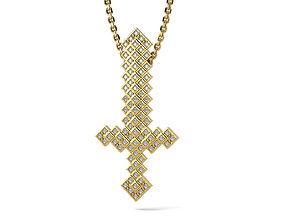 3D printable model Diamond Gold Sword Pendant