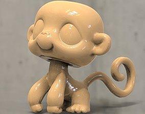 monkey 3D printable model a