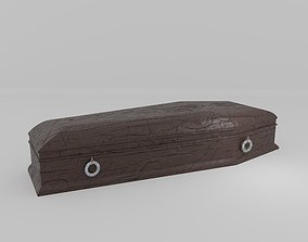 3D model Cracked Brown Coffin