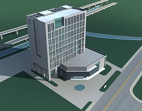 Office Building architectural 3D model