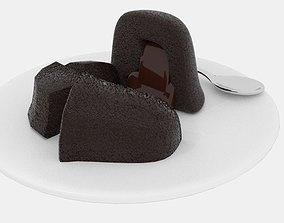 Melt Chocolate Cake 3D model