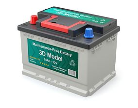 3D equipment Car Battery