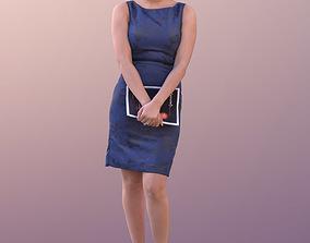 3D asset Yanelle 10093 - Standing Elegant Girl