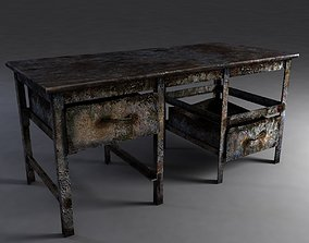 Rusty workbench 3D model