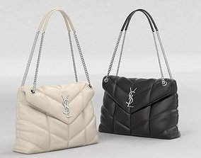 3D model Saint Laurent Loulou Puffer Bags