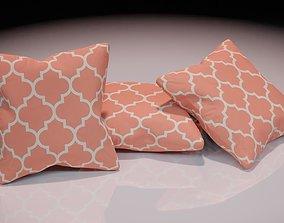Contemporary colourful cushion design 10 3D asset