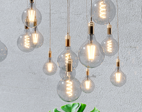 4 models of decorative light bulbs living-room