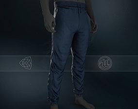 Blue Stonewashed Jogger Pants 3D asset