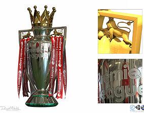 3D English Premier League Trophy PBR