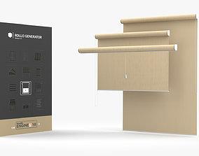Rollo Generator HDA 3D model rigged