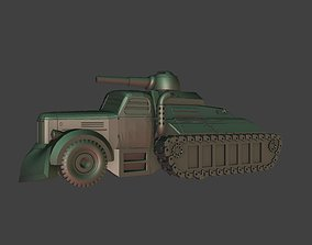 3D print model Car with panzer vehicles track