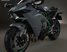 3D model Kawasaki Ninja H2 2015