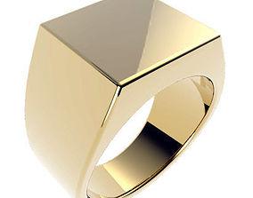 Gents Signet Ring 3D print model