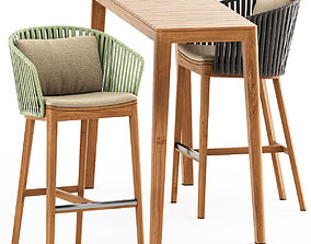 3D MOOD BAR Chair and MOOD High Table by Tribu