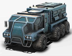 3D asset Sci Fi Truck Low Poly